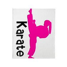 Cute Karate Throw Blanket