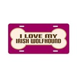 Irish Wolfhound Aluminum License Plate