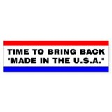 U.S.A. Made Bumper Bumper Sticker