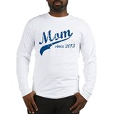 Mom Since 2013 Blue Long Sleeve T-Shirt