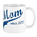 Mom Since 2013 Blue Small Mug