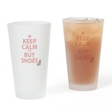 Keep Calm and Buy Shoes Drinking Glass