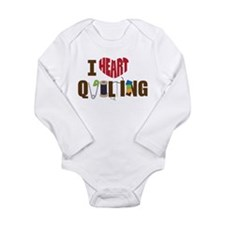 I Heart Quilting Baby Suit