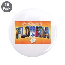 "Florida State Greetings 3.5"" Button (10 pack)"