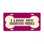 Miniature Poodle Aluminum License Plate