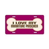 Miniature Pinscher Aluminum License Plate