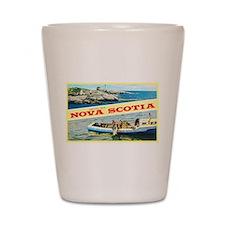 Nova Scotia Canada Greetings Shot Glass