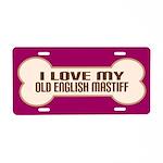 Old English Mastiff Aluminum License Plate