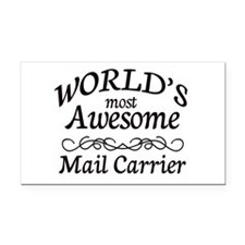Mail Carrier Rectangle Car Magnet