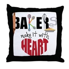 Bakers Throw Pillow