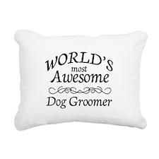 Dog Groomer Rectangular Canvas Pillow