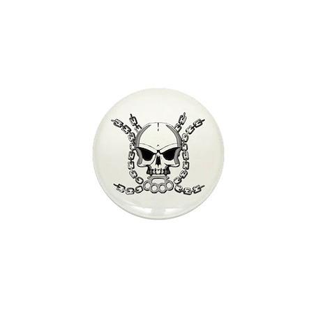 Brass knuckle skull 6 Mini Button (10 pack)