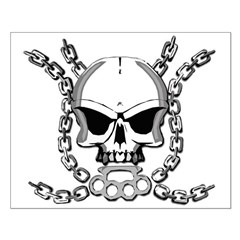Brass knuckle skull 6 Posters