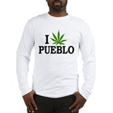 I Love Cannabis Pueblo Colorado Long Sleeve T-Shir