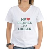 My Heart Belongs to a Logger Shirt