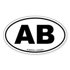 Alberta Oval Bumper Stickers