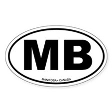 Manitoba Oval Decal