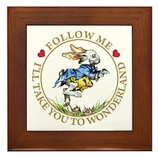 Follow Me I'll Take You to Wonderland Framed Tile