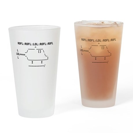 Roflcopter Drinking Glass