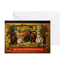 Thanksgiving Doxies Greeting Cards (Pk of 10)