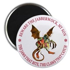 "Beware the Jabberwock, My Son 2.25"" Magnet (100 pa"