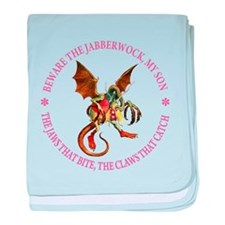 Beware the Jabberwock, My Son baby blanket