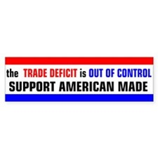 Trade Deficit Bumper Bumper Sticker
