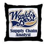 Supply Chain Analyst (Worlds Best) Throw Pillow