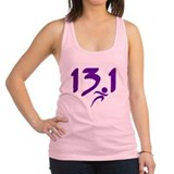 Purple 13.1 half-marathon Racerback Tank Top