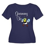 Grammy To Bee Women's Plus Size Scoop Neck Dark T-