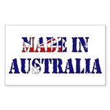 Made In Australia Rectangle Decal