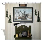 Cabin wall Shower Curtain