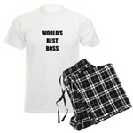 Worlds Best Boss Men's Light Pajamas