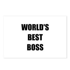 Worlds Best Boss Postcards (Package of 8)