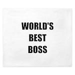 Worlds Best Boss King Duvet