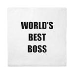 Worlds Best Boss Queen Duvet