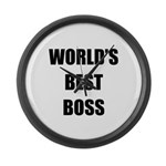 Worlds Best Boss Large Wall Clock