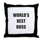 Worlds Best Boss Throw Pillow