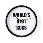 Worlds Best Boss Wall Clock
