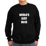 Worlds Best Boss Sweatshirt (dark)