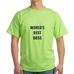 Worlds Best Boss Green T-Shirt