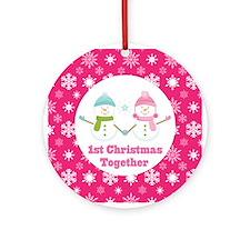 1st Christmas Together Snowflake Gift Ornament (Ro