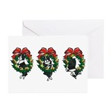 Boston terrier christmas cards Greeting Cards (10 Pack)