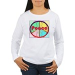 Abstract Peace Sign Women's Long Sleeve T-Shirt