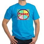 Abstract Peace Sign Men's Fitted T-Shirt (dark)