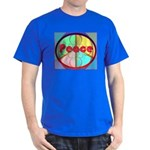 Abstract Peace Sign Dark T-Shirt