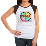 Abstract Peace Sign Women's Cap Sleeve T-Shirt