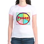 Abstract Peace Sign Jr. Ringer T-Shirt