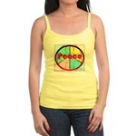 Abstract Peace Sign Jr. Spaghetti Tank