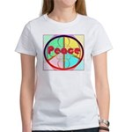 Abstract Peace Sign Women's T-Shirt